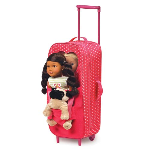 Double Doll Carrier With Trolley Doll Furniture Ababy Com