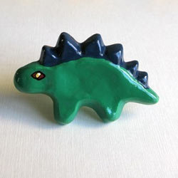 Stegosaurus Furniture Knob