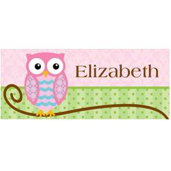 Personalized Rectangle Owl Canvas