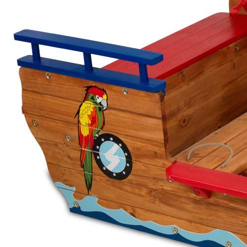Kidkraft Pirate Sandboat Kids Sandbox Wooden Covered