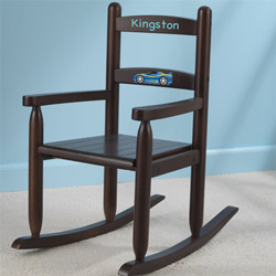 Personalized Kid's Slat Rocking Chair