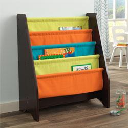 Espresso Sling Bookshelf Kids Bookshelves Ababy Com Colorful