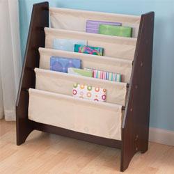 Espresso Sling Bookshelf Kids Bookshelves Ababy Com Natural