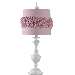 Ruffle Shade Table Lamp