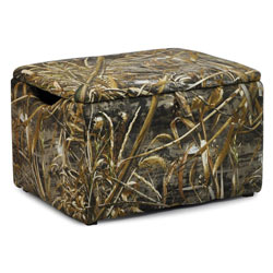 Real Tree Upholstered Storage Box