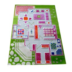 3D Playhouse Carpet