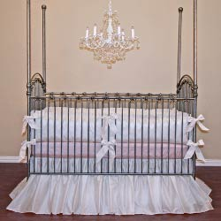 Silk Crib Bedding Set