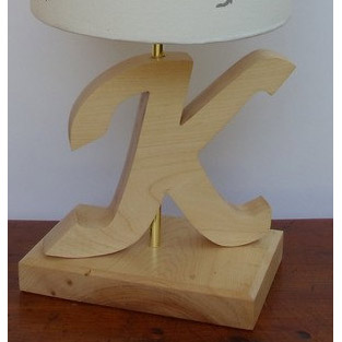 Custom Handmade Wooden Letter Lamp