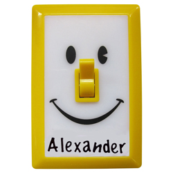 Personalized Smiley Face Light Switch Nightlight