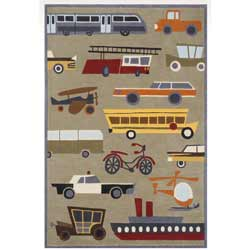 Transportation Concrete Rug