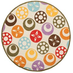 Delightful Disc Rug