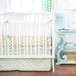 Personalized Gold Rush Baby Crib Bedding