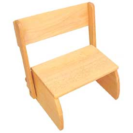 Kids Step Stool Wooden 2 Step Puzzle Stools