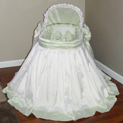 Simply Delicate Dupioni Bassinet Set
