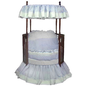 Pretty Pique Round Crib Bedding
