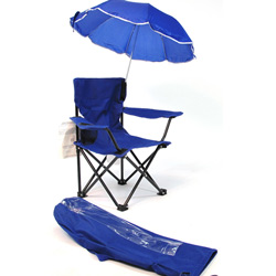 Fold-Up kids Camp Chair with Umbrella