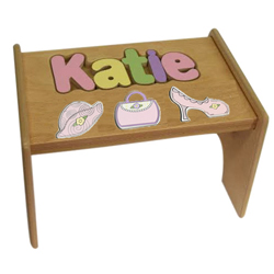 Swell Personalized Kids Name Puzzle Step Stools 1 2 Step Ababy Ncnpc Chair Design For Home Ncnpcorg