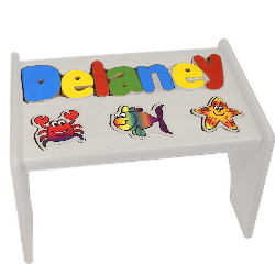 Personalized Sea Creatures Puzzle Stool