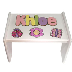 Personalized Garden Wooden Puzzle Stool