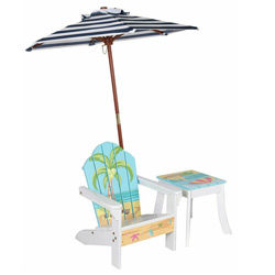 Outdoor Table and Chair with Umbrella