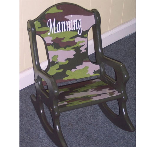 Personalized Camo Rocking Chair Kids Rocking Chairs - ABaby.com ...