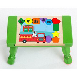 Fabulous Personalized Kids Name Puzzle Step Stools 1 2 Step Ababy Ncnpc Chair Design For Home Ncnpcorg