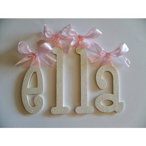 Hanging Wall Letters hanging wall letters with ribbon | wall decals | ababy