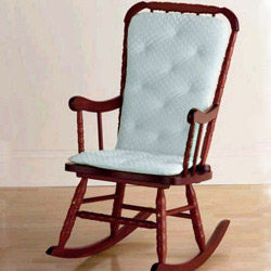 Superior Heavenly Soft Adult Rocking Chair Cushion   Blue