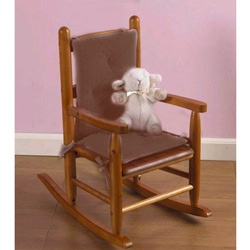 heavenly soft childu0027s rocking chair cushion minky brown