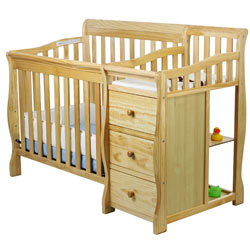 jayden 2 in 1 crib with changer natural