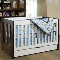 Lovely Mercer Convertible Baby Crib   Espresso/White