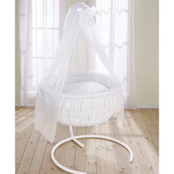 Wicker Bassinet For Baby Antique Vintage With Wheels Amp Stand
