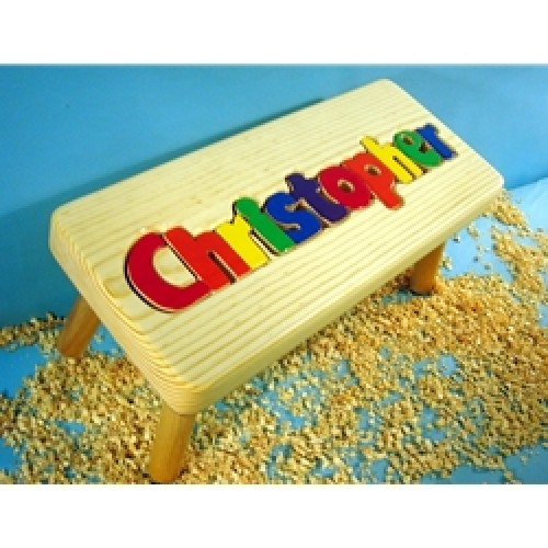 Personalized Wooden 1 Name Puzzle Stool - Natural  sc 1 st  aBaby.com & Order Personalized Step Stool u0026 Wooden Name Stools For Kids at ... islam-shia.org