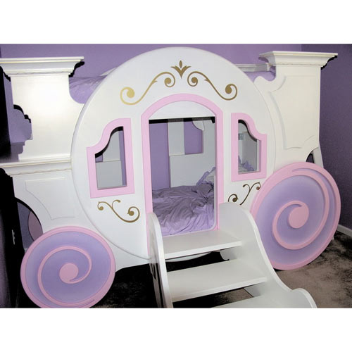 Cinderella Carriage Bed   Pink/Lavender