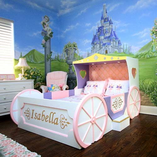 Enchanting Princess Carriage Bed | Kid's Carriage Theme ...