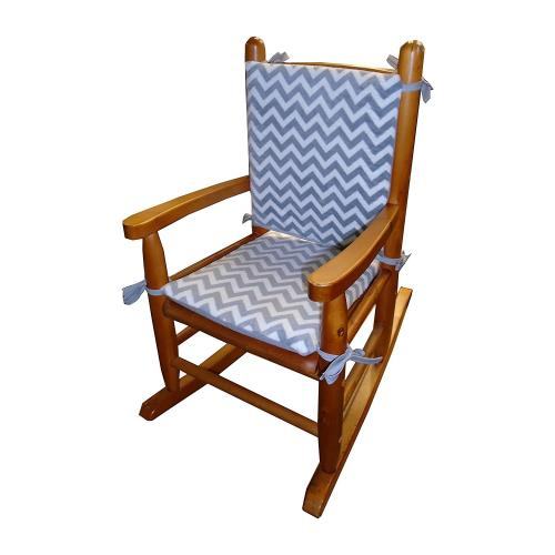 new product af178 1143d Minky Chevron Child's Rocking Chair Cushion
