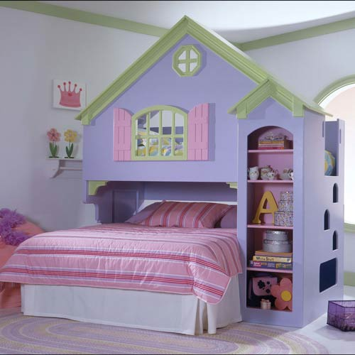 Tanglewood Dollhouse Loft Bunk Bed Set | Wooden | aBaby.com