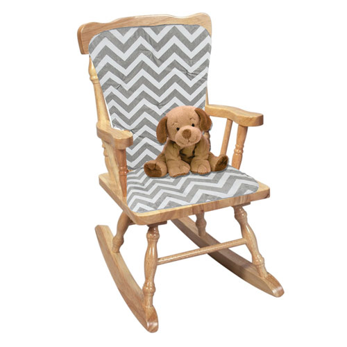 outlet store d31cc 07c54 Minky Chevron Adult Rocking Chair Cushion