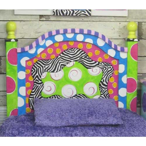 Funky Headboard Wooden Beds
