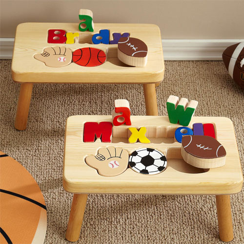 Swell Sports 1 Name Puzzle Stool Ocoug Best Dining Table And Chair Ideas Images Ocougorg