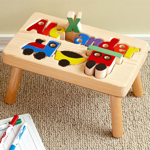 Groovy Choo Choo Train 1 Name Puzzle Stool Ocoug Best Dining Table And Chair Ideas Images Ocougorg