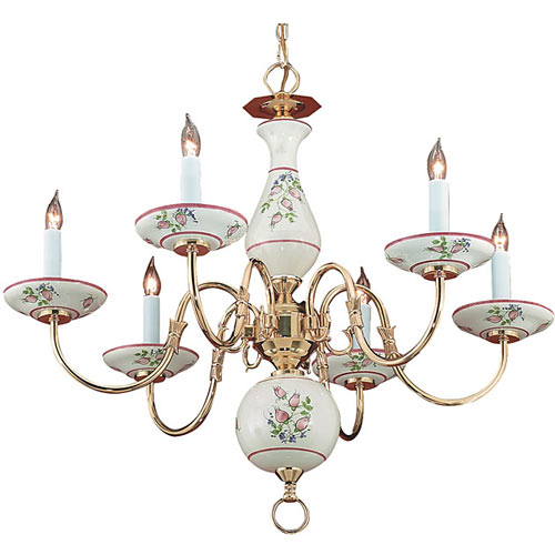 Floral ceramic chandelier chandeliers ababy floral ceramic chandelier aloadofball Images