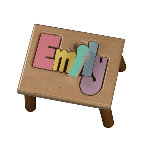 Personalized Puzzle Wooden Step Stool 1 8 Letters For