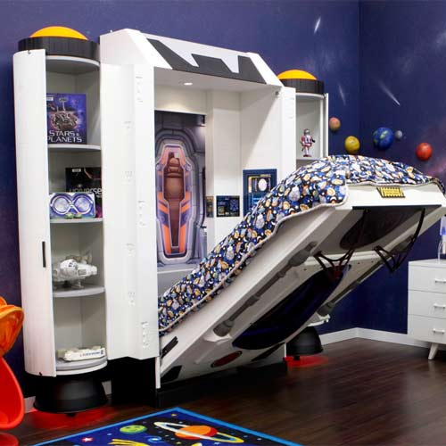 Baby Furniture Amp Bedding Spaceship Kids Wall Bed