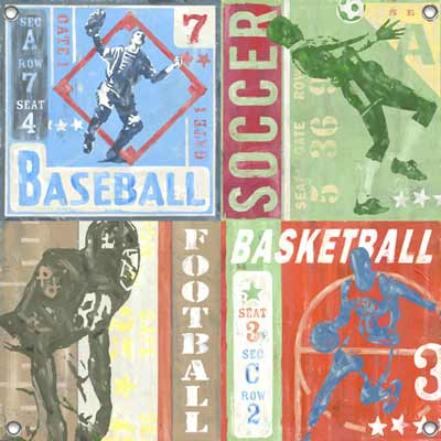 Football Ticket Canvas Reproduction