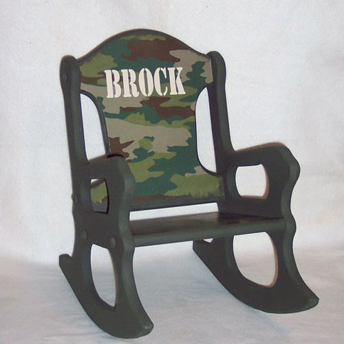 Personalized Camo Rocking Chair Kids Rocking Chairs