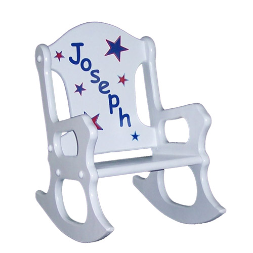 Peachy Red White And Blue Stars Rocking Chair Pdpeps Interior Chair Design Pdpepsorg