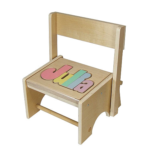 Personalized Wooden Flip Back Name Step Stool At Ababy