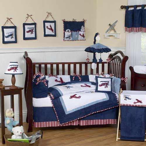 Baby Aviator Crib Bedding Set