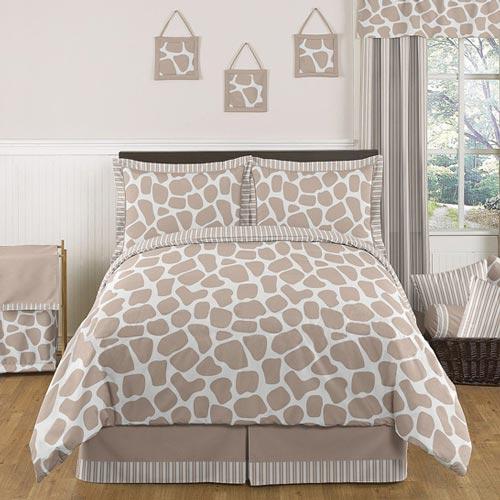 giraffe twin  full bedding set girls twin bedding